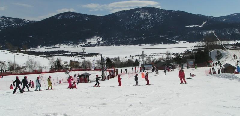 Cours de ski avec les PEP 34.