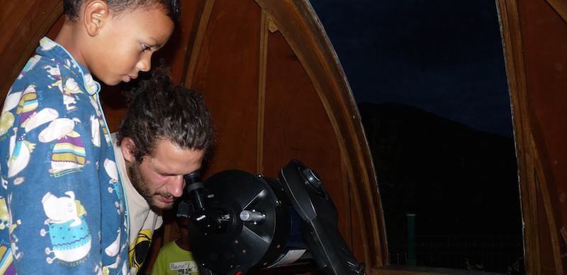 Astronomie en colonie de vacances à Malibert (Hérault).
