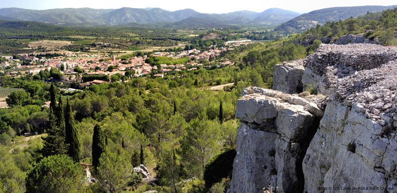 Paysages et panoramas dans la région de Saint-Chinian (Hérault).