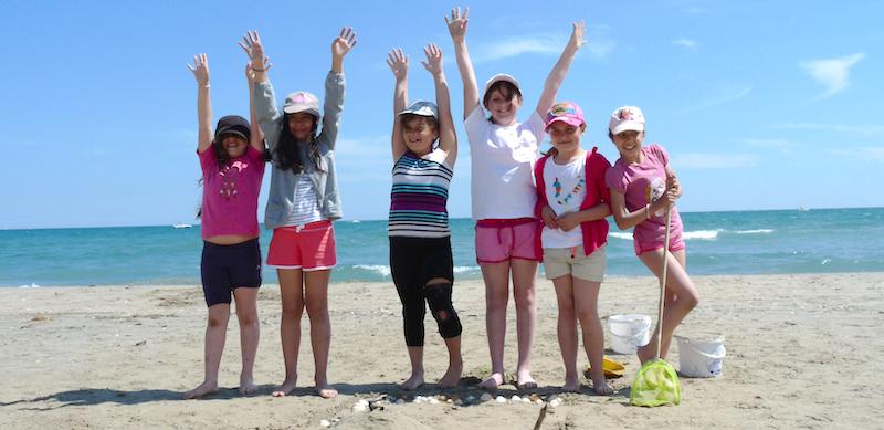 Activités de plage au centre de vacances Le Grain de SEL PEP 34 de Palavas (hérault)