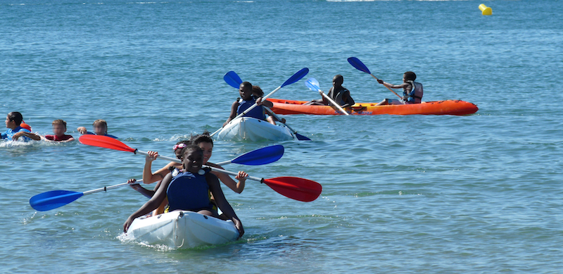 Activité kayak à Palavas (Hérault) avec les PEP 34.