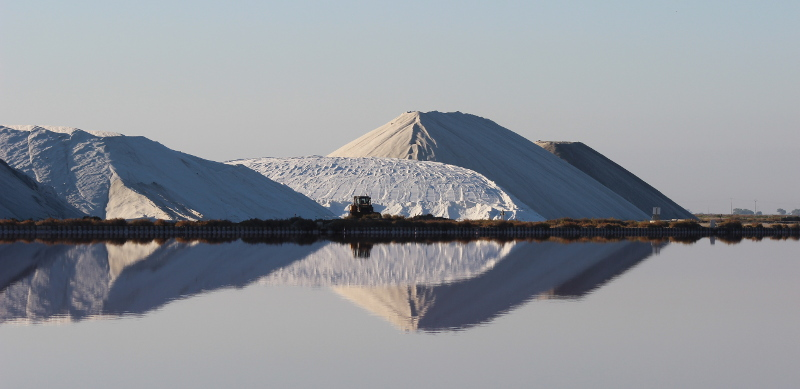 Les camelles de sel, aux salins d'Aigues-Mortes.