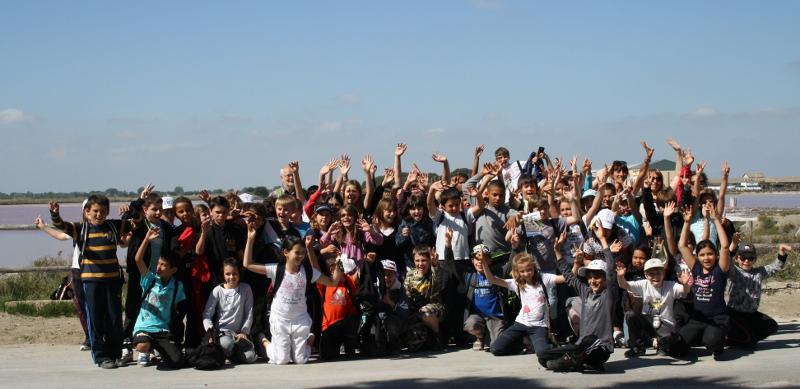 Visite des salins d'Aigues-Mortes en classe découverte PEP 34.