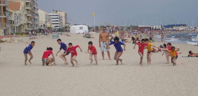 Sauvetage sportif sur la plage avec les PEP 34.