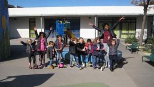 Les enfants du centre de loisirs de PEP 34 de Malbosc (Montpellier).