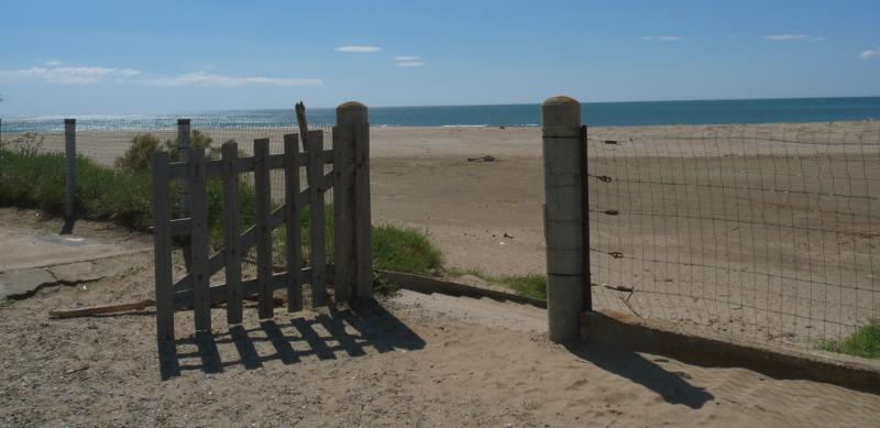 La plage et la mer à Valras-Plage (Hérault).