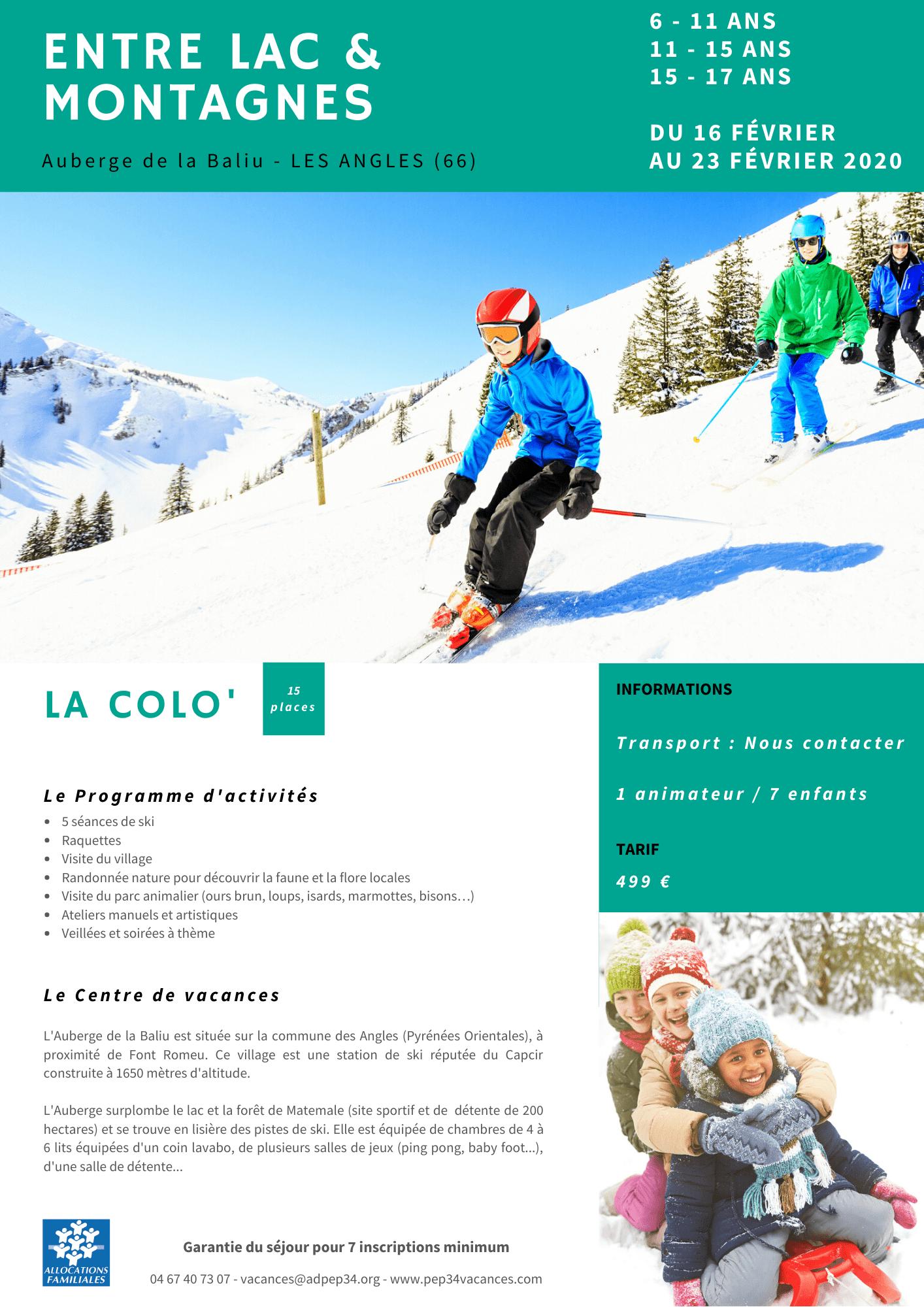 Colo ski aux Angles